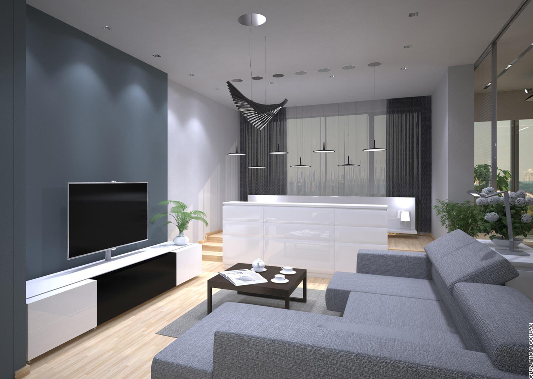 """Інтер'єр однокімнатної квартири у житловому комплексі """"RiverStone"""""""
