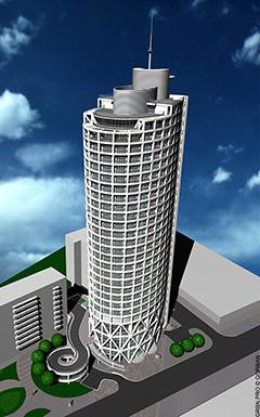 Проект багатоповерхового житлового будинку в Голосіївському районі м. Києва.