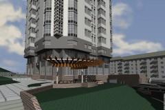Проект багатоповерхового житлового будинку в м. Донецьку.