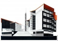 Проект адміністративної будівлі митниці в м. Болграді Одеської області.